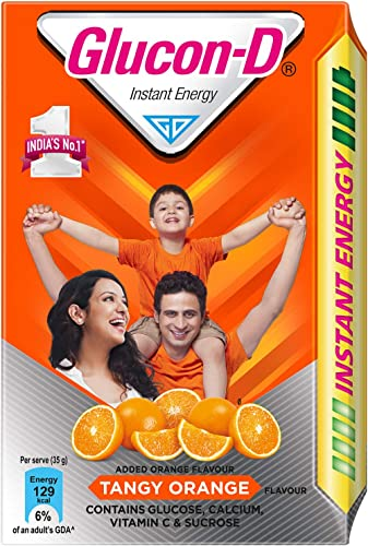 Glucon-D Instant Energy Health Drink Tangy Orange - 450gm Refill