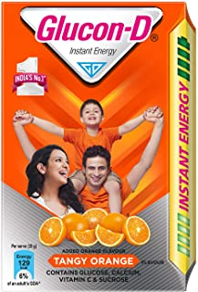 Glucon D Instant Energy Health Drink Tangy Orange - 450gm Refill