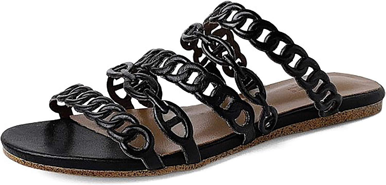Calaier Donna Capida 1.5CM Senza Tacco Scivolare su Pantofole Calzature, Nero, 35.5