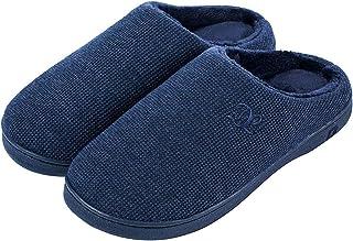 DL Womens Memory Foam Slippers, Slip on House Slippers for Women Indoor Outdoor, Women's Bedroom Slippers Non-Slip Hard So...