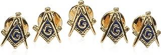 Cuff-Daddy Freemason Masonic Stud Set with 5 Studs