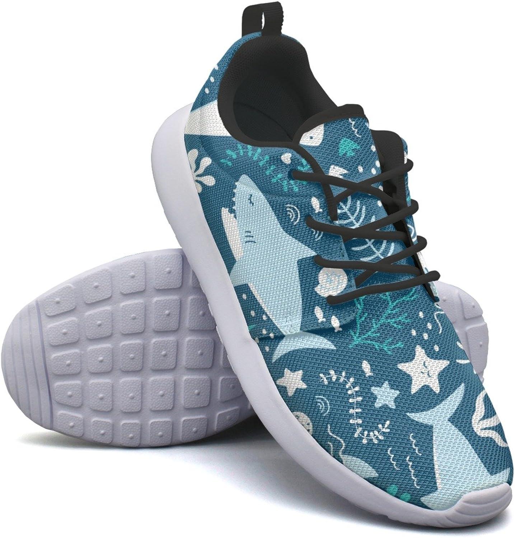 Happy Sharks Cute Shark Woman's Cool Design Running shoes Novelty Mini