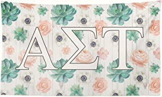 Pro-Graphx Alpha Sigma Tau Greek Sorority Flag Display Banner Sign Décor - 3' x 5' - Succulents