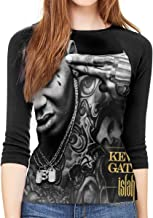 Dwight E Hoskins Kevin Gates Womens 3/4 Sleeve Neck Slim Fit Basic Spring Tee Shirts