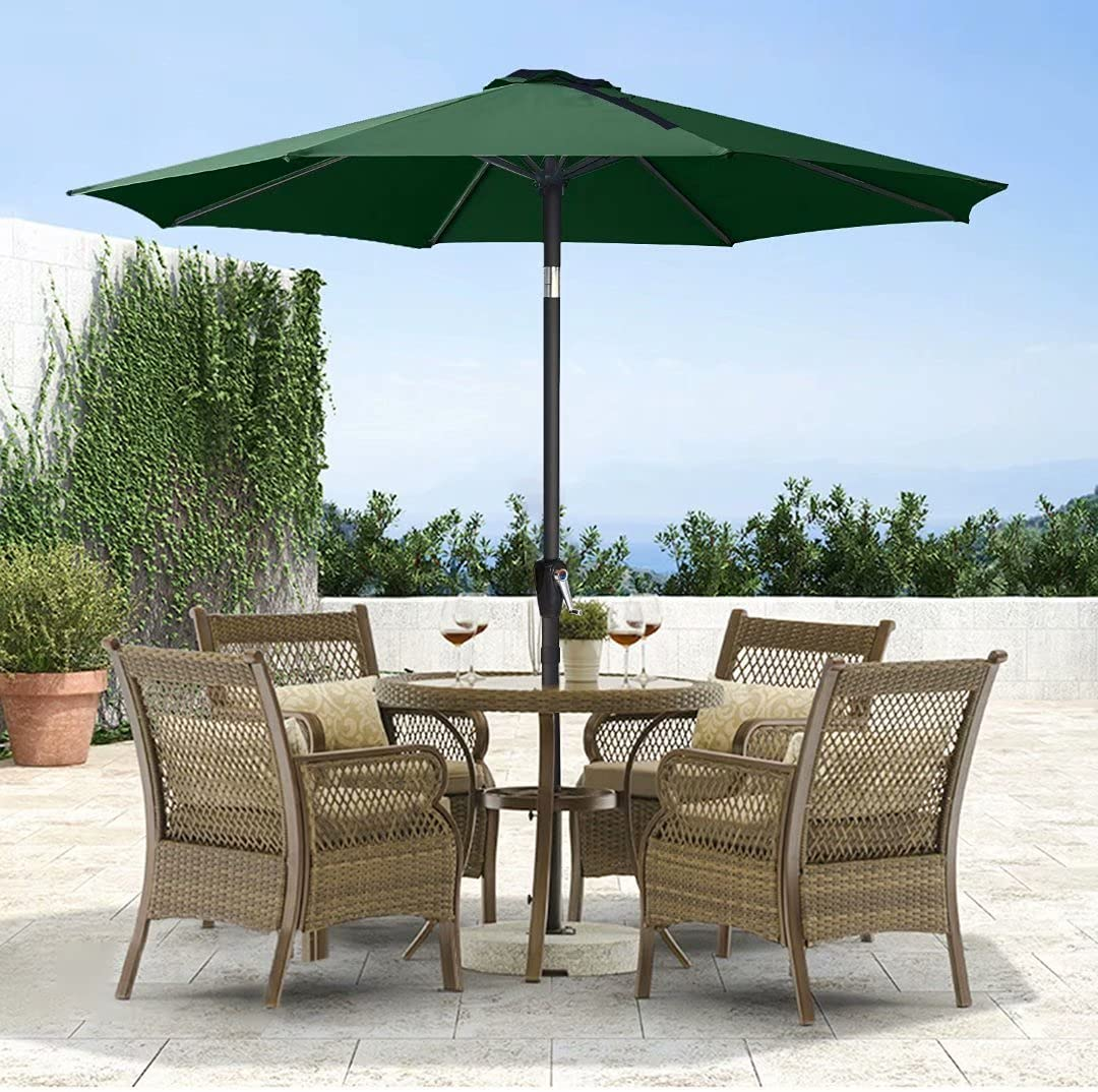 ABCCANOPY 9' Product Patio Umbrella Table Butt Max 80% OFF with Push Market