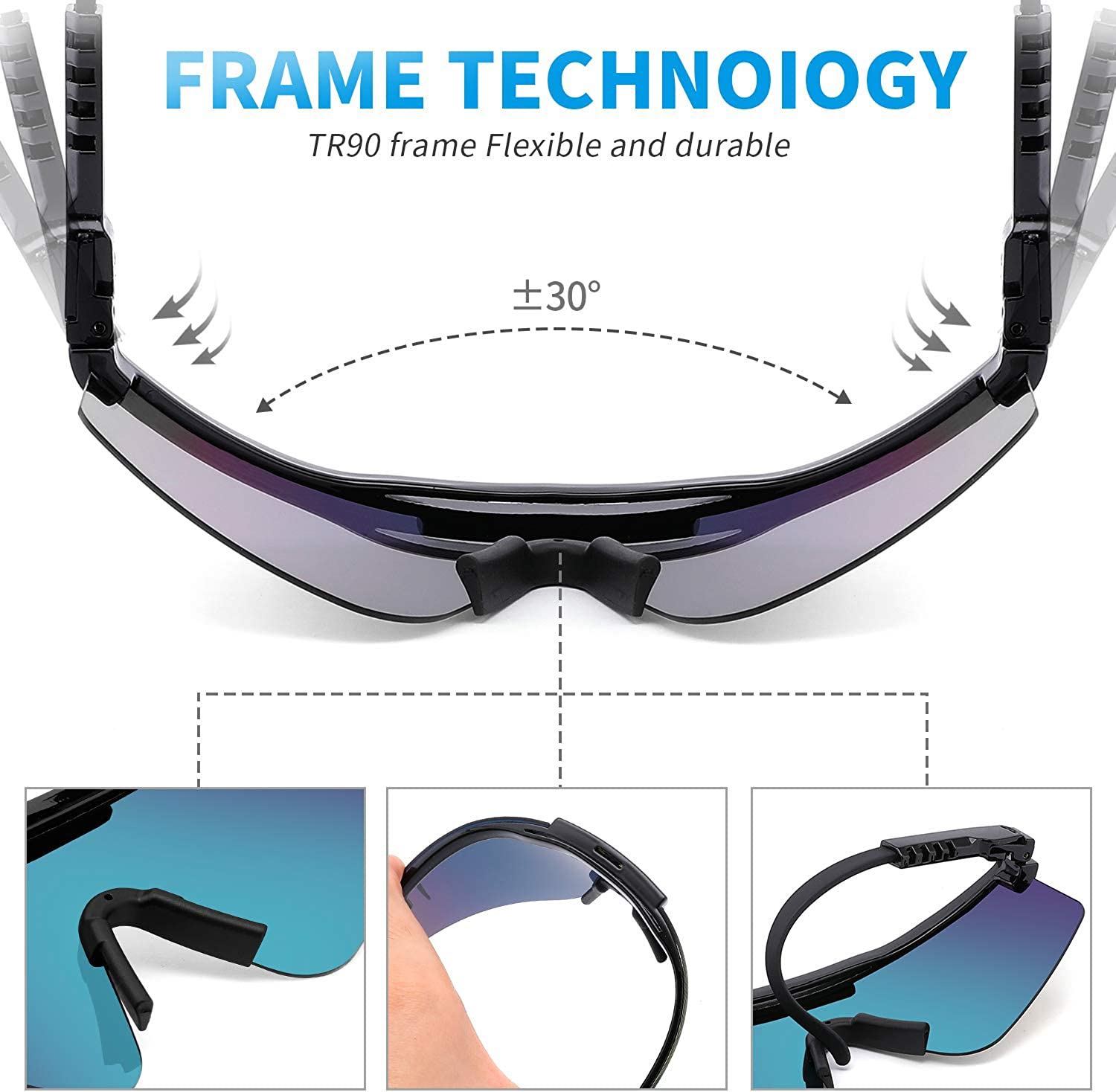 Outdoor Cycling Glasses UV400 Polarized Sunglasses for Women and Men Pit Viper Sunglasses