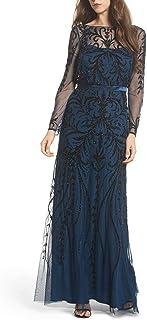 Women's Allover Embellished Beaded Long Dress