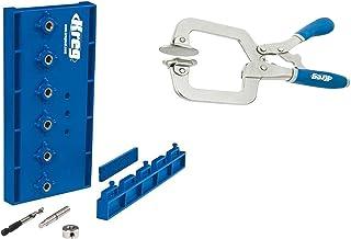 KREG KMA3200 Shelf Pin Drilling Jig and Kreg KHC-PREMIUM Face Clamp