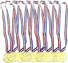 Aweisile Kids Medailles 30 Stks Medailles voor Kinderen Sport Dag Medailles Winnaar Award Plastic Medailles Gouden Kinderm...