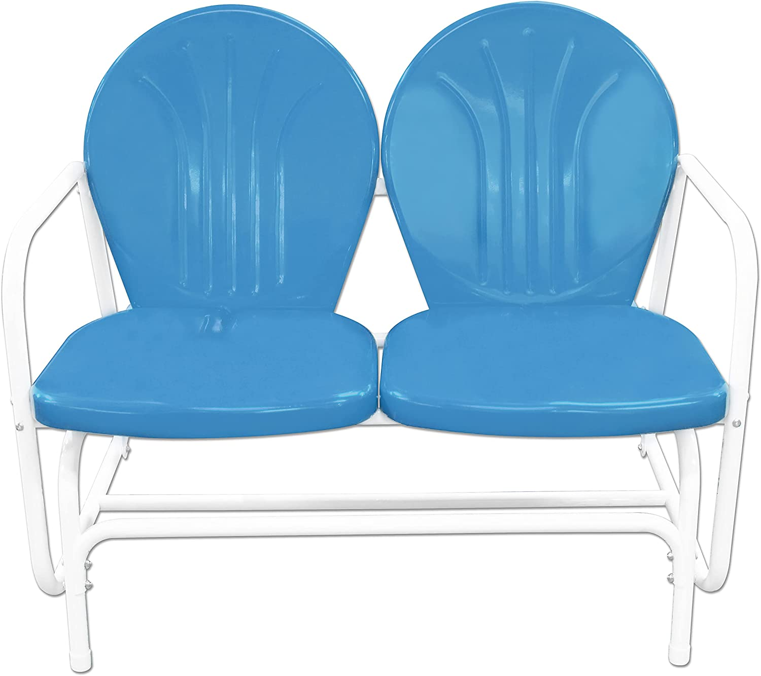 Leigh Country TX Seattle Mall 93515 Azure Retro Glider Double White Max 83% OFF