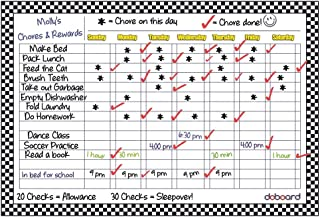 """DoBoard Large 12""""x17"""" Magnetic Flexible Dry Erase Chart Board ● Chore ● Responsibility ● Activity ● Rewards ● Star ● Menu ● for Home Kitchen or Office ● Refrigerator or Cabinet"""