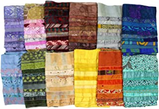 Mango Gifts Women's Lot of 10 Silk Sari Fabric Handmade Scarves Scarfs Wholesale Lot