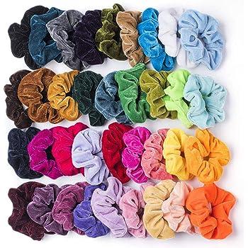 36 Pz Capelli Scrunchies Velluto Elastico Fasce per Capelli Scrunchy Cravatte Capelli Corde Scrunchie per le Donne Ragazze (36 colori)