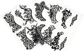 Beaupretty 5Pcs Tijdelijke Eye Tattoo Stickers Drama Zwart Kant Makeup Eye Liner Stickers Voor Halloween Photo Studio Mask...