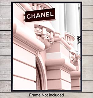 Chanel Photo Art Print - Photo Wall Art Poster - Chic Home Decor for Bedroom, Living Room, Bathroom, Office, Teens Room, Dorm - Gift for Women, Fashion Designers, Fashionistas - 8x10 Unframed