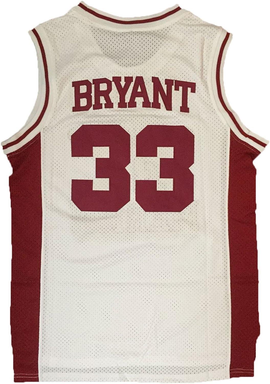 JerseyFame Men's Basketball Number 33 Bryant Basketball Jersey White