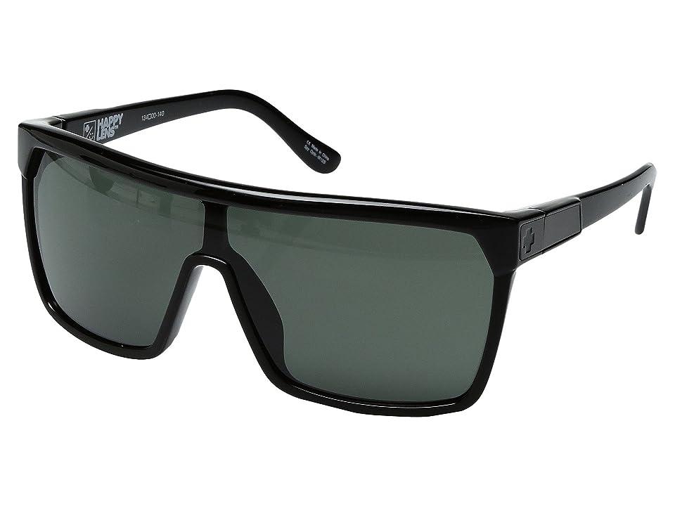 Spy Optic Flynn (Shiny Black/Matte Black/Happy Gray/Green) Sport Sunglasses