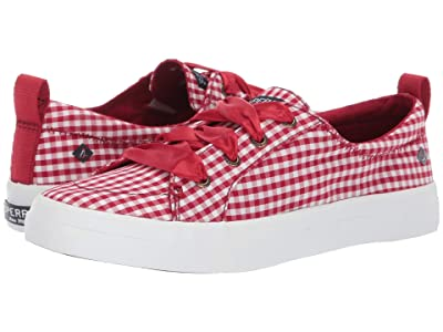 Sperry Crest Vibe Gingham (Red/White) Women