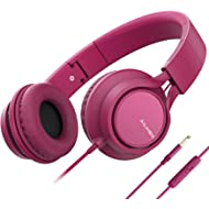 AILIHEN C8 (Upgraded) Headphones with Microphone and Volume Control Folding Lightweight Headset...