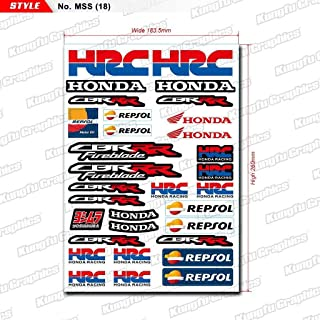 honda hrc stickers decals