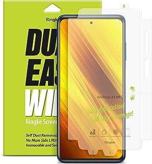 【2枚】【Ringke】Xiaomi Poco X3 NFC 保護フィルム スクリーン保護フィルム Ringke Dual Easy Full Cover Wing Film 前面フルカバレッジ ソフトフィルム [ケース干渉せず/貼り付け簡単/...