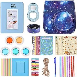 Andoer - Kit 10 en 1 para Fujifilm Instax Mini 8/8+/8S/9incluye funda para cámara/correa/espejo selfie/filtro/álbum y ma...