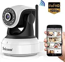 Sricam Ultima versión SP017 Cámara WiFi Interior de vigilancia 1080P inalámbrica IP cámara, Objetivos giratorios, Audio bidireccional, Modo Noche a Infrarrojos, Compatible con iOS Android PC