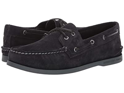 Sperry A/O 2-Eye Suede (Black 3) Men