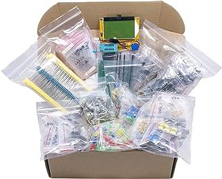 XL Electronic Component Kit Assortment, Capacitors, Resistors, LED, Transistors, Diodes, Zener, Potentiometers, LCR-T4 Component Tester, 1760 pcs