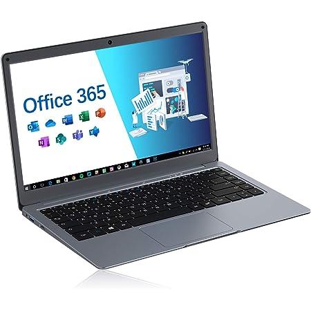 Jumper EZbook X3 Microsoft Office 365 día (13,3Pulgada / FHD) Ordenador portátil (Intel Dual Core, 4GB DDR3 RAM, 64GB eMMC, Intel HD Grafik 500, Bluetooth 4.2,Windows 10) Plata