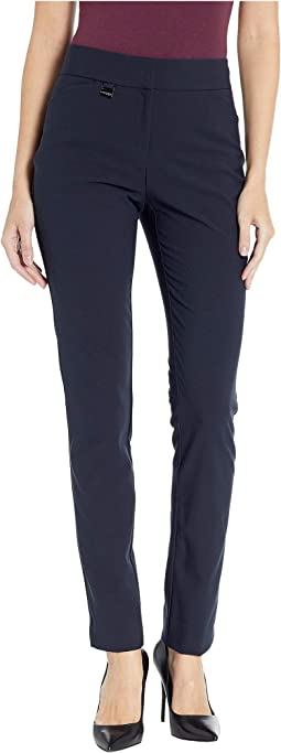 Manhattan Fabric Slim Pants with Zip & Pockets