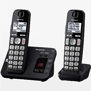Panasonic Dect 6.0 Sistema de teléfono inalámbrico expandible con contestadora y Bloqueo de Llamadas, 2 audífonos - KX-TGE...