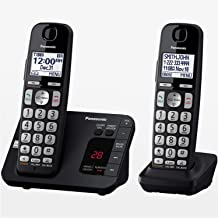 Panasonic DECT 6.0 Expandable Cordless Phone System with Answering Machine and Call..