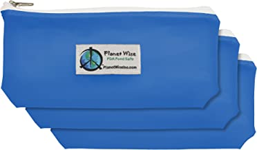 Planet Wise Tint Snack Bag - 3-Pack - Zipper (Blue)