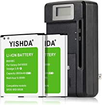Galaxy S4 Batteries, YISHDA 2x2600mAh Replacement Batteries for Samsung Galaxy S4 and Charger Compatible I9500 I9505 I337 I545 L720 M919 R970 | Samsung Galaxy S4 Battery [18 Month Warranty]