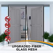 Magnetic Screen Door, French Door, Durable Fiberglass Double Door Screen Mesh Curtain to Keep Bugs Out