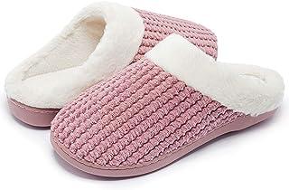 Kuako Inverno Pantofole Donna Peluche Ciabatte Caldo Comode Scarpe da Casa Antiscivolo Memoria Schiuma Pantofole Interno E...