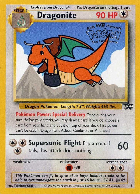 Pokemon Card  Black Star Promo 5  Dragonite