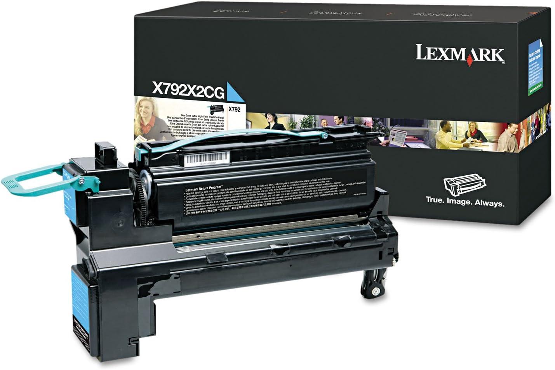 Lexmark Extra High Yield Cyan Toner Cartridge, 20000 Yield, for Use in Model X792/XS796 (X792X2CG)
