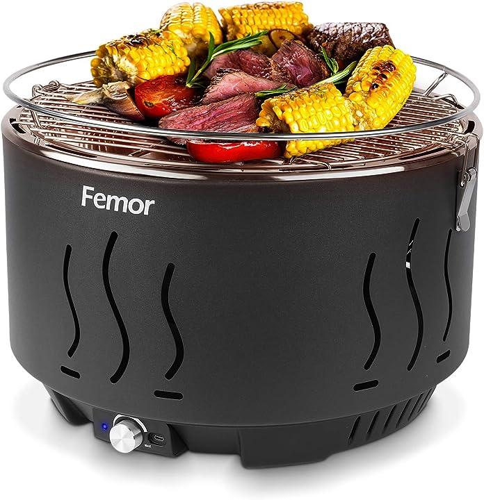 Barbecue carbone,griglia barbecue carbone senza fumo- femor B08FCBR7K2