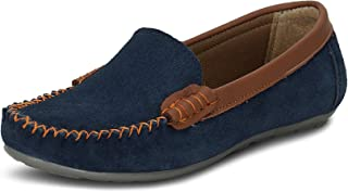 Get Glamr Women Suede Navy Casual Shoes