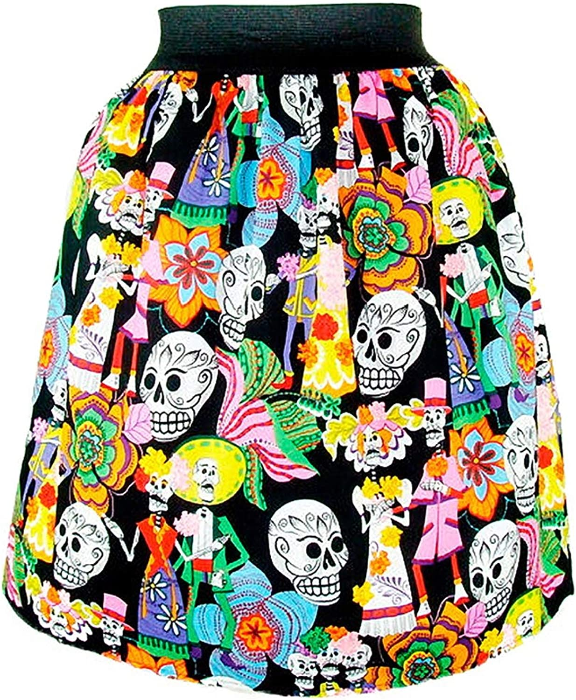 Hemet Women's Catrinos & Catrinas Mexican Pleated Skirt