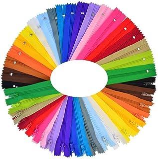 comprar comparacion Cremalleras de Costura,Cremalleras de Colores,25 Colores Mixtos Cremalleras de Nylon, para Costurar Almohadas, Ropa, Falda...