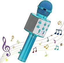 Ankuka Karaoke Bluetooth Mikrofon Kinder,Tragbares Drahtloses 4 in 1 Karaoke Handmikrofon..