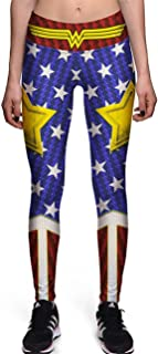 Hoyou Funky Print Leggings for Women Galaxy Floral Tribal Sexy Smooth Crazy Patterned Pants Slimming Girls