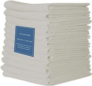 "Whitewrap Flour Sack Dish Towels 130 Thread Count Ring Spun Cotton Large 28""x28"" 12-Pack Kitchen Dish Towels Natural - Kit..."
