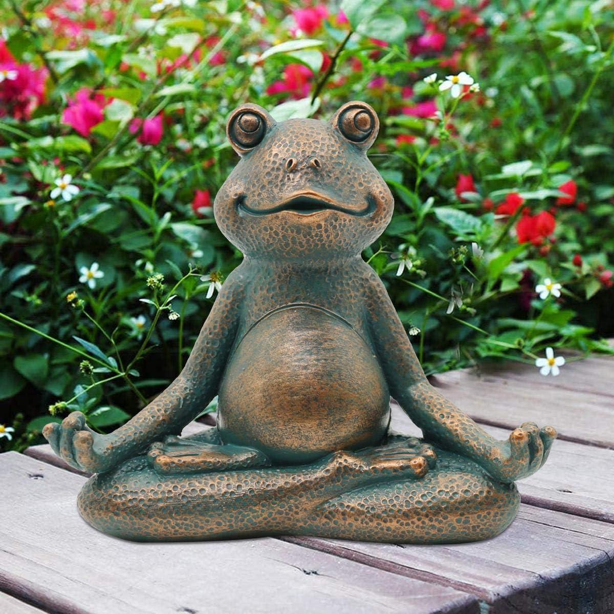 Nacome Meditating Frog Miniature Figurine Yoga New Orleans Mall Garden Zen S Branded goods