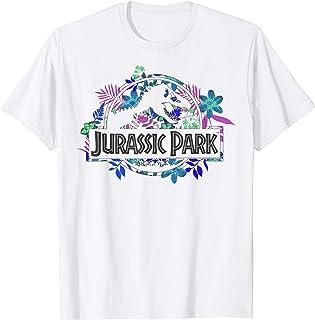 Jurassic Park Tropical Floral Logo T-Shirt