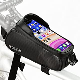 NDakter Bike Phone Front Frame Bag, Waterproof Bicycle Top Tube Pouch Phone Mount Pack Phone Case...