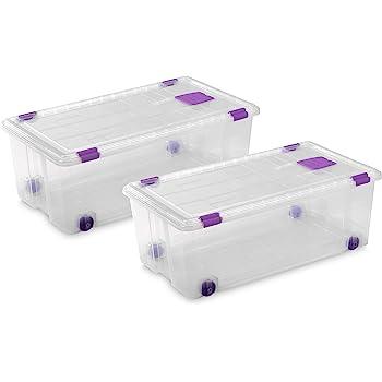 TecTake Cajas de almacenaje de Zapatos Calzado Cajas plástico Transparente apilable 33x23x12cm - Varias cantidades - (2x6 | no. 402005): Amazon.es: Hogar